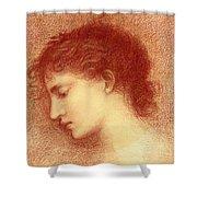 Head Study Of Maria Zambaco The Wine Of Circe Shower Curtain