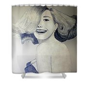 Head Turn Shower Curtain
