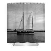 Headed Out To Sea Shower Curtain