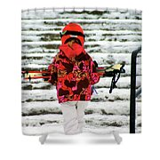 Heading For The Slopes Shower Curtain