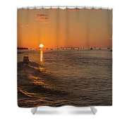 Heading Into The Sunset Shower Curtain