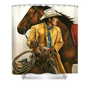 Heading Out Into The Storm Shower Curtain by Pat Erickson