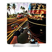 Heading Out On Harley Shower Curtain