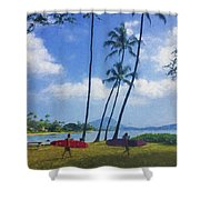 Heading Out To Surf Shower Curtain