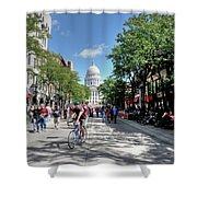 Heading To Camp Randall Shower Curtain