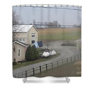 Heading To The Barn To Do Chores Shower Curtain