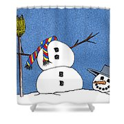 Headless Snowman Shower Curtain