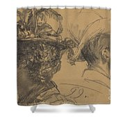 Heads Of A Man And A Woman Shower Curtain