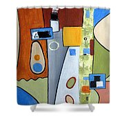 Headspin II Shower Curtain