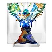 Healing Angel - Spiritual Art Painting Shower Curtain