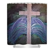 Healing In His Wings Shower Curtain
