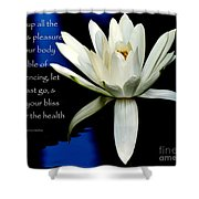 Healing Lily Shower Curtain