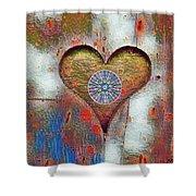 Healing The Heart Shower Curtain