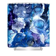 Healing With Blues Shower Curtain