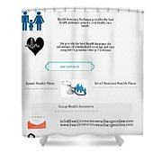 Health Insurance Exchange Online Shower Curtain