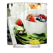 Healthy Breakfast Shower Curtain