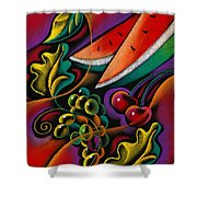 Healthy Fruit Shower Curtain