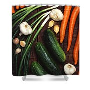 Healthy Vegetables Shower Curtain