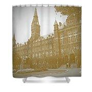 Healy Hall Sepia Shower Curtain