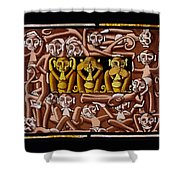 Hear No Evil, See No Evil, Speak No Evil Shower Curtain