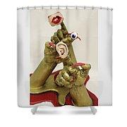 Hear, See, Speak No Evil Shower Curtain