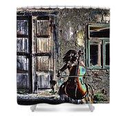 Hear The Cello Sing Shower Curtain