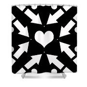 Heart And Arrows Shower Curtain