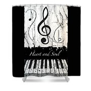 Heart And Soul - Music In Motion Shower Curtain
