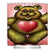 Heart Bear Shower Curtain