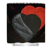Heart Blocker Shower Curtain