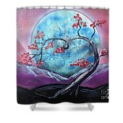 Heart Blossom Shower Curtain
