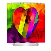 Heart Bright Shower Curtain