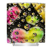 Heart Bubbles Shower Curtain