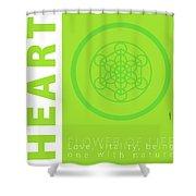 Heart Chakra Series Three Shower Curtain
