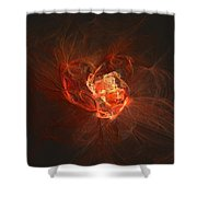 Heart... - Coeur... Shower Curtain