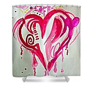 Heart Energy Shower Curtain