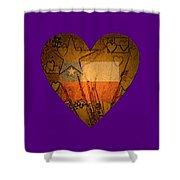Heart For Texas Shower Curtain