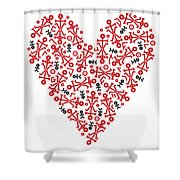 Heart Icon Shower Curtain