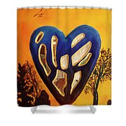 Heart In Glory Shower Curtain