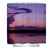 Heart In The Sky Shower Curtain