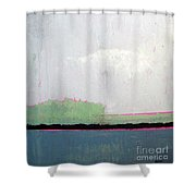 Heart Lake - Abstract Landscape Shower Curtain