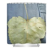 Heart Leaf Shower Curtain