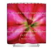 Heart Of A Flower With Bible Verses Shower Curtain