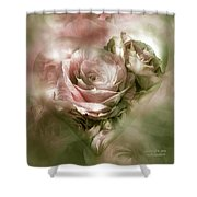 Heart Of A Rose - Antique Pink Shower Curtain
