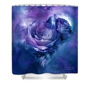 Heart Of A Rose - Lavender Blue Shower Curtain