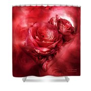 Heart Of A Rose - Red Shower Curtain
