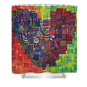 Heart Of Cherries Shower Curtain
