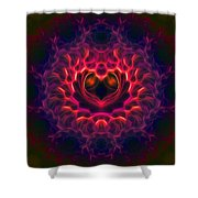 Heart Of Darkness Shower Curtain