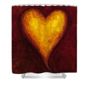 Heart Of Gold 1 Shower Curtain