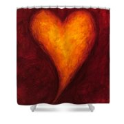 Heart Of Gold 2 Shower Curtain